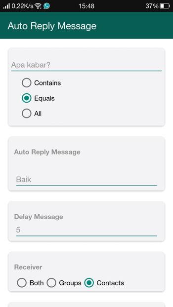 2 Cara Membalas Pesan Secara Otomatis Di Whatsapp Android 15