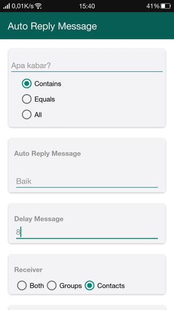 2 Cara Membalas Pesan Secara Otomatis Di Whatsapp Android 9