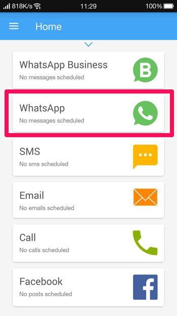 2 Cara Membuat Pesan Terjadwal Di Whatsapp Android 2