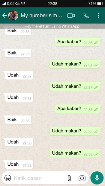 Contoh Penggunaan Fitur Auto Reply Message Gbwhatsapp 1