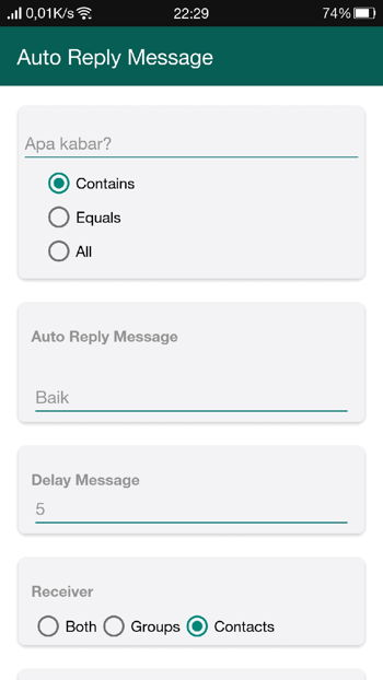 Fitur Auto Reply Message Gbwhatsapp 2