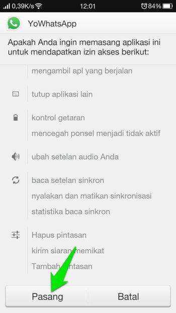 Panduan Instalasi Yowhatsapp 1