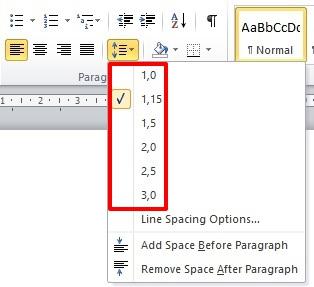 Belajar Menggunakan Line & Paragraf Spacing Di Microsoft Word 2010 1