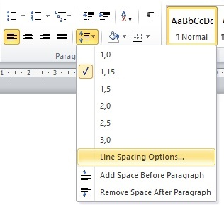 Belajar Menggunakan Line & Paragraf Spacing Di Microsoft Word 2010 2