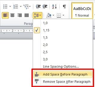 Belajar Menggunakan Line & Paragraf Spacing Di Microsoft Word 2010 4