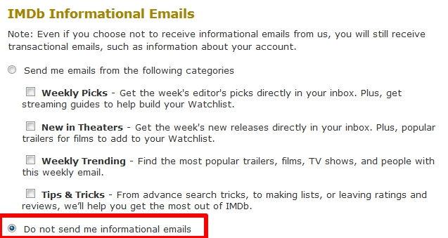 Cara Berhenti Berlangganan Email Dari Imdb 3