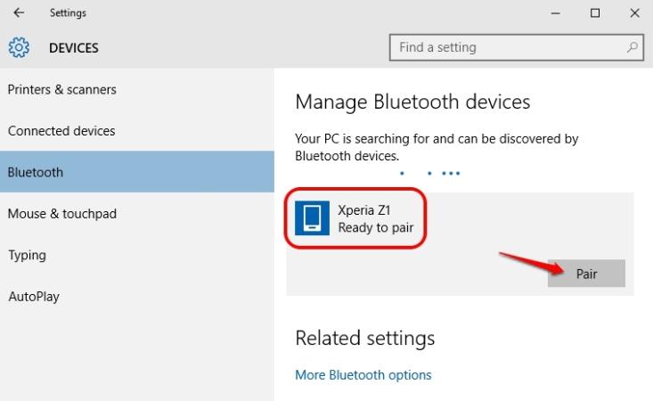 Cara Connect Ponsel Android Ke Pc Windows 10 Gunakan Bluetooth 3