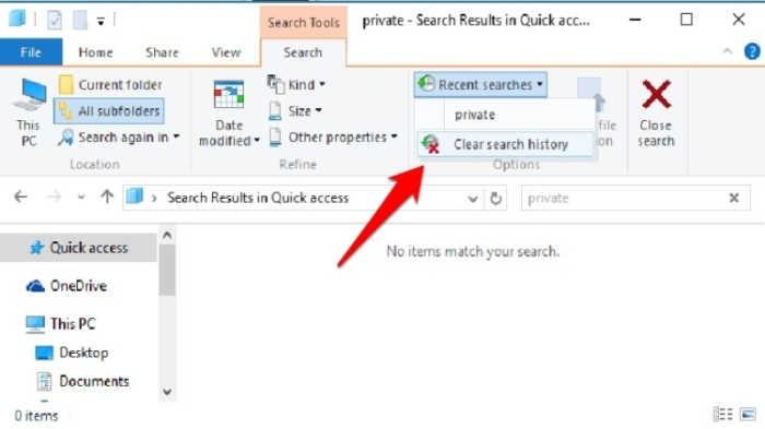 Cara Hapus Riwayat Pencarian Di File Explorer Windows 1