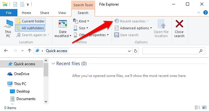 Cara Hapus Riwayat Pencarian Di File Explorer Windows 2