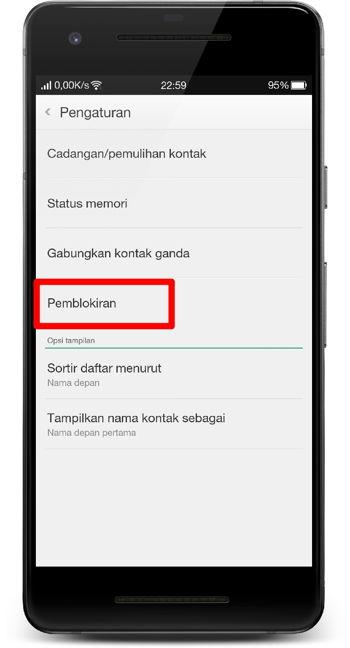 Cara Memblokir Panggilan Dan Pesan Teks (sms) Di Android 8