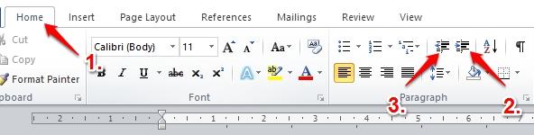 Cara Menggunakan Indent Dan Tabs Di Microsoft Word 2010 5