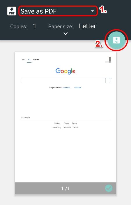 Cara Simpan Halaman Web Sebagai File Pdf Di Android Dan Windows 7