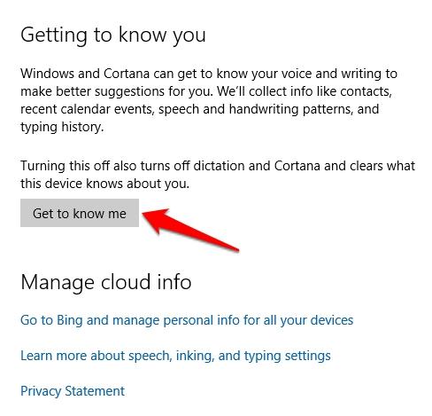 Cara Membersihkan Riwayat Pencarian Cortana Windows 10 4