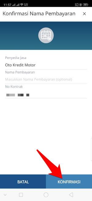 Cara Bayar Angsuran Oto Kredit Motor Via Aplikasi Mandiri Online 10