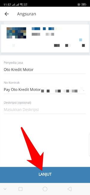 Cara Bayar Angsuran Oto Kredit Motor Via Aplikasi Mandiri Online 11