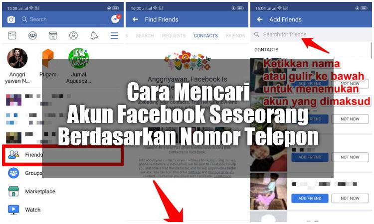 cara mencari akun facebook seseorang