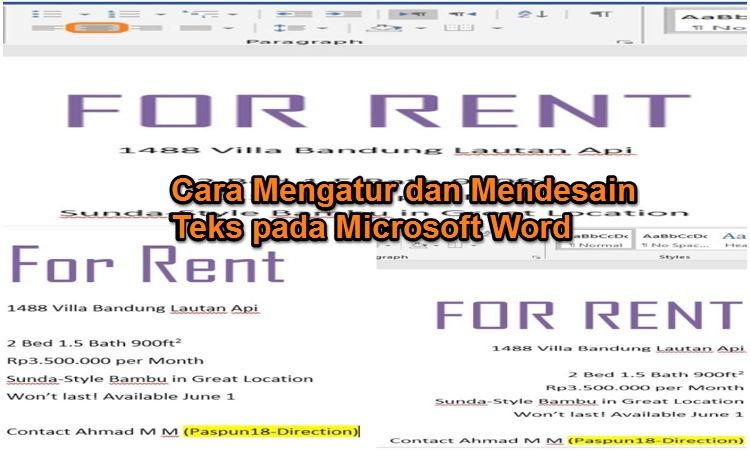 Cara Mengatur Dan Mendesain Teks Pada Microsoft Word 00