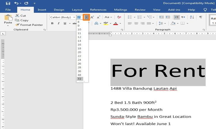 Cara Mengatur Dan Mendesain Teks Pada Microsoft Word 1