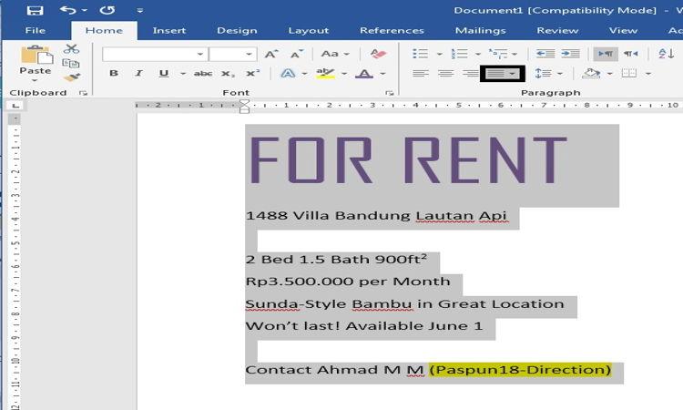 Cara Mengatur Dan Mendesain Teks Pada Microsoft Word 18