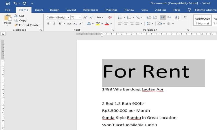 Cara Mengatur Dan Mendesain Teks Pada Microsoft Word 4