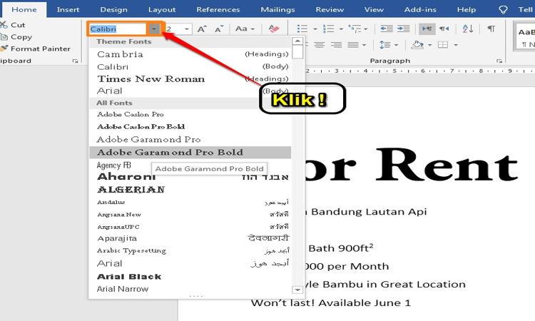 Cara Mengatur Dan Mendesain Teks Pada Microsoft Word 5