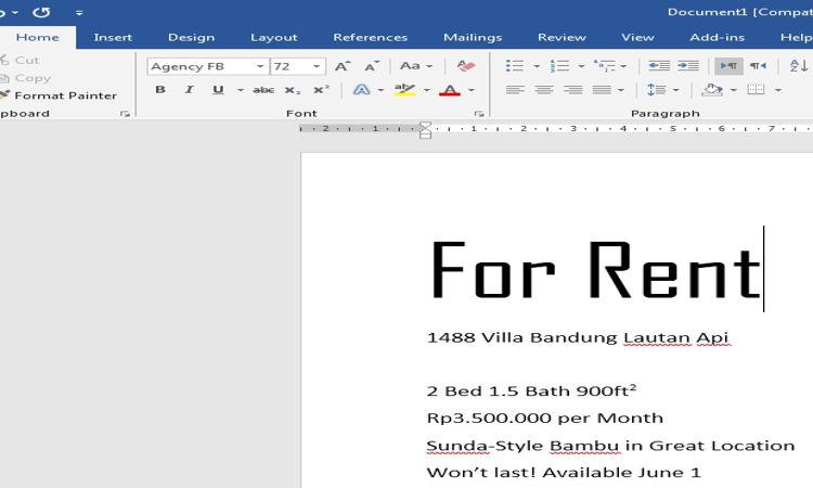 Cara Mengatur Dan Mendesain Teks Pada Microsoft Word 6
