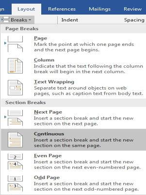 Dasar Penggunaan Breaks Di Microsoft Word 12