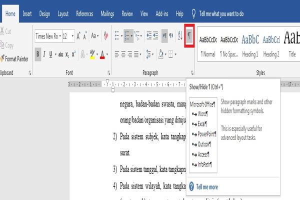 Dasar Penggunaan Breaks Di Microsoft Word 16