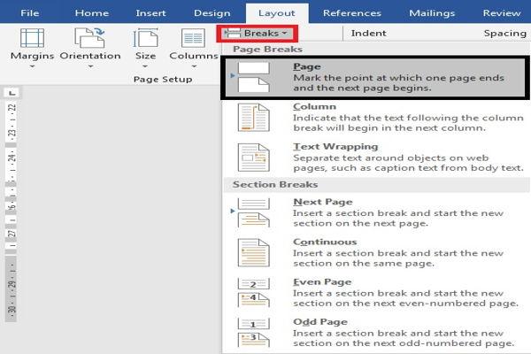 Dasar Penggunaan Breaks Di Microsoft Word 3