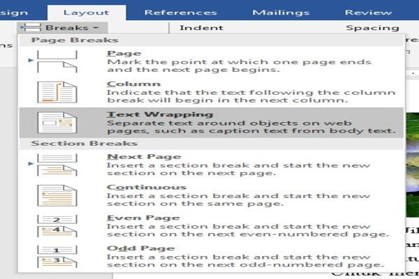 Dasar Penggunaan Breaks Di Microsoft Word 9