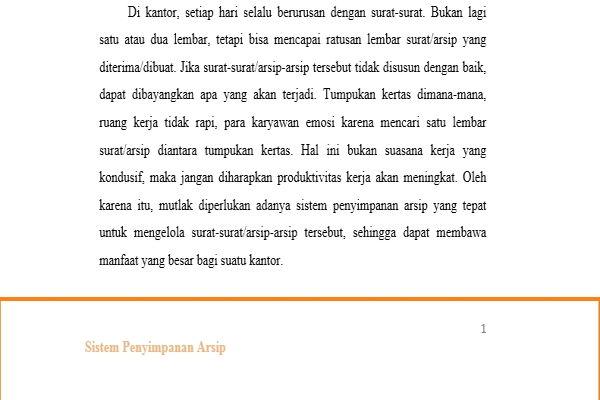 Dasar Penggunaan Header Dan Footer Di Microsoft Word 12