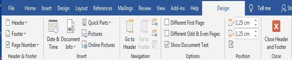 Dasar Penggunaan Header Dan Footer Di Microsoft Word 9