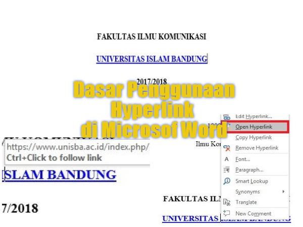 Dasar Penggunaan Hyperlink Di Microsoft Word 0