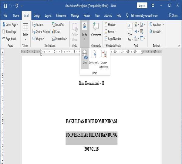 Dasar Penggunaan Hyperlink Di Microsoft Word 1