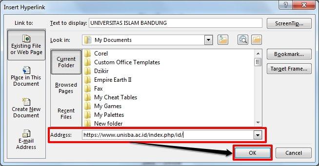 Dasar Penggunaan Hyperlink Di Microsoft Word 2