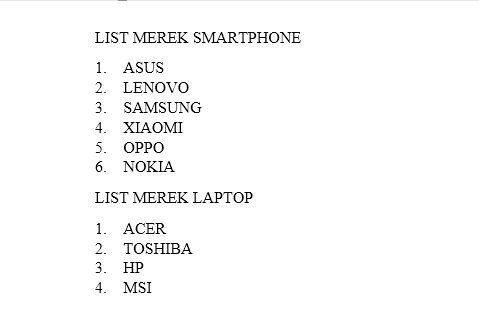Dasar Dasar Pembuatan Dan Modifikasi List Di Microsoft Word 14