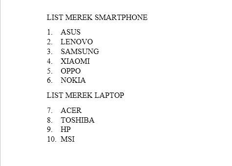 Dasar Dasar Pembuatan Dan Modifikasi List Di Microsoft Word 16