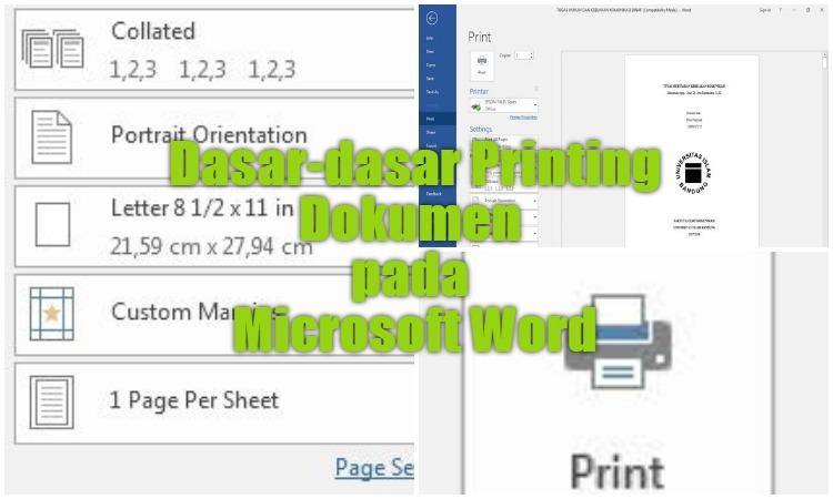 Dasar Dasar Printing Dokumen Pada Microsoft Word 0