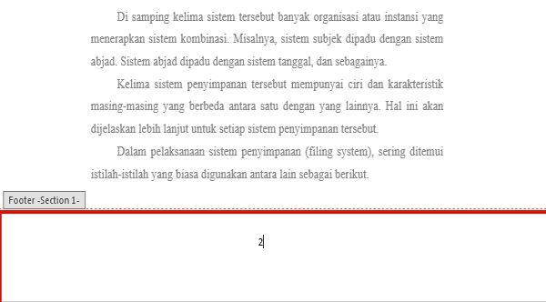 Panduan Penggunaan Page Number Di Microsoft Word 11