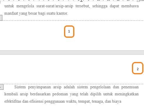 Panduan Penggunaan Page Number Di Microsoft Word 14