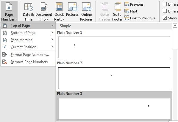 Panduan Penggunaan Page Number Di Microsoft Word 15