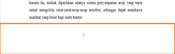 Panduan Penggunaan Page Number Di Microsoft Word 5
