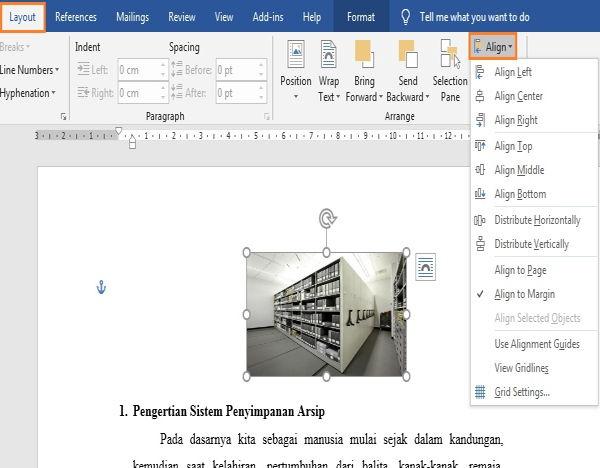 Perpaduan Penggunaan Picture Dan Text Wrapping Di Microsoft Word 10