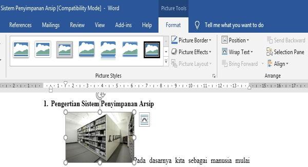 Perpaduan Penggunaan Picture Dan Text Wrapping Di Microsoft Word 6