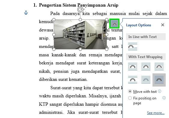 Perpaduan Penggunaan Picture Dan Text Wrapping Di Microsoft Word 9