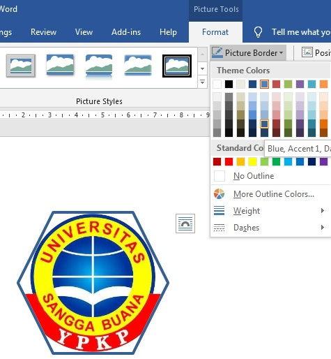 Panduan Formatting Picture Di Microsoft Word 6